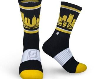 Skyline Pittsburgh City PGH Skyline Premium Crew Socks