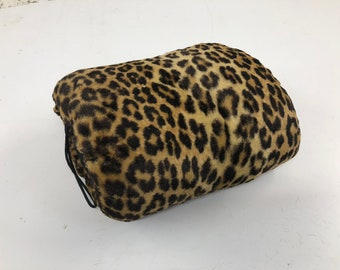 7608895dfc Vintage Faux Leopard Fur Hand Warmer mid century muff glam boho winter  animal african 1950s 1960s