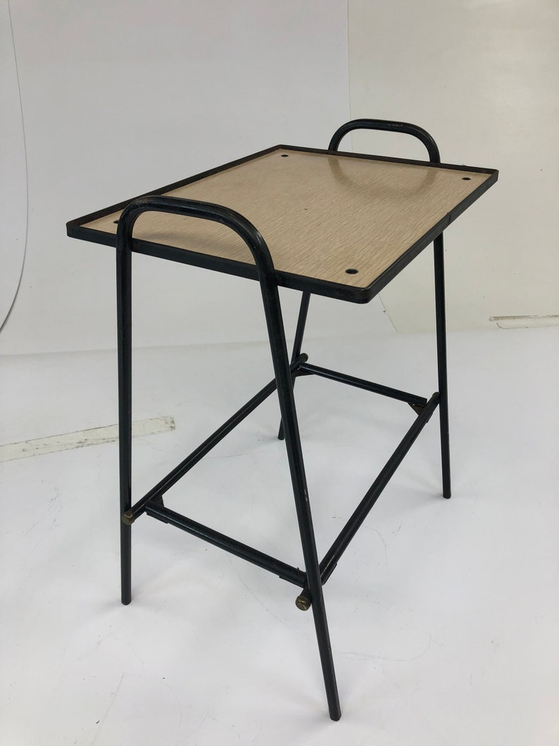 9935cb7aa89e Mid Century Modern SIDE TABLE black metal plant stand tier