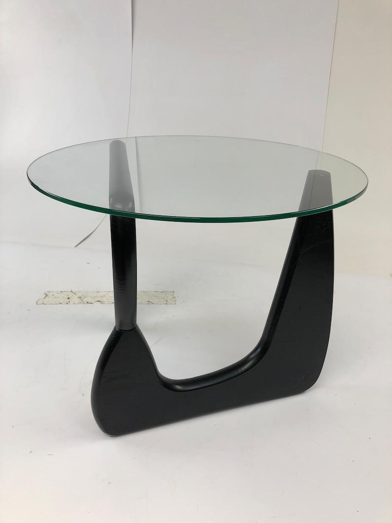40dbae7efa51 Vintage SIDE TABLE Glass Top Isamu Noguchi mid century