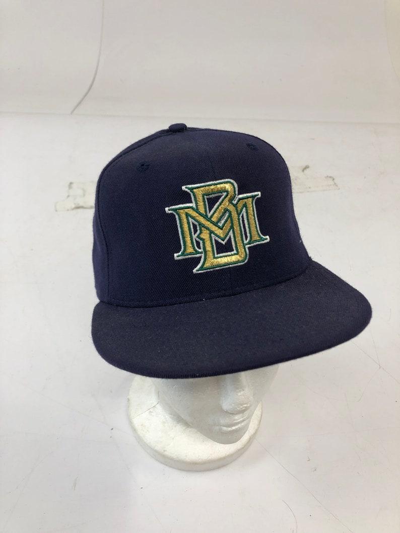 1bd630a84e519f Vintage 90s MILWAUKEE BREWERS HAT 6 3/4 blue baseball cap | Etsy