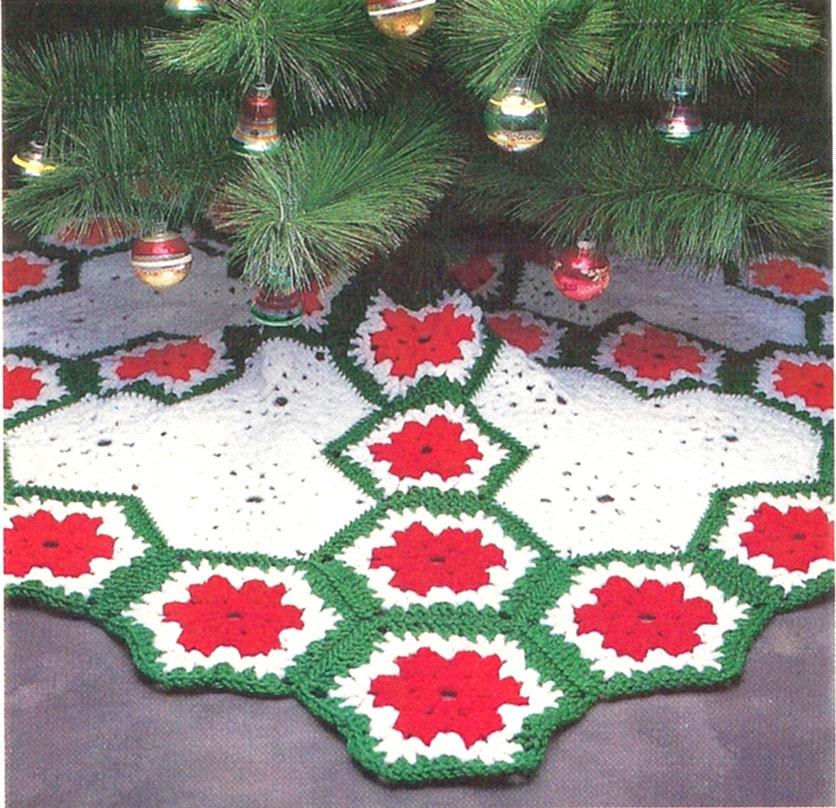 Quick N Easy Crochet Pattern For Christmas Tree Skirt Etsy