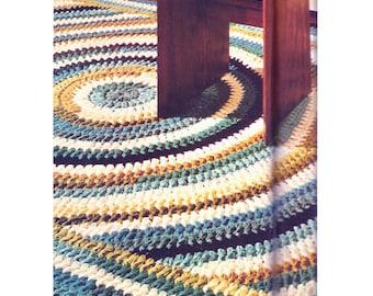 """Crochet Pattern For Shaker Design Crocheted Rug - PDF Instant Pattern Download - Crochet Pattern 60"""" x 100"""""""