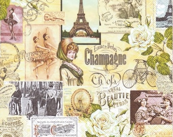 French Postcards Cardstock Paper