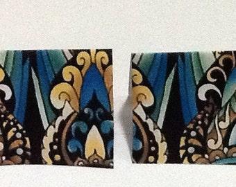 9 Golden Nouveau Mini Note Cards