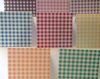 8 Gingham Mini Note Cards