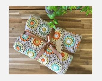 Vintage Style Blanket | Daisy blanket | Crochet blanket | Crochet throw | Handmade blanket | Custom throw | Personalize Blanket
