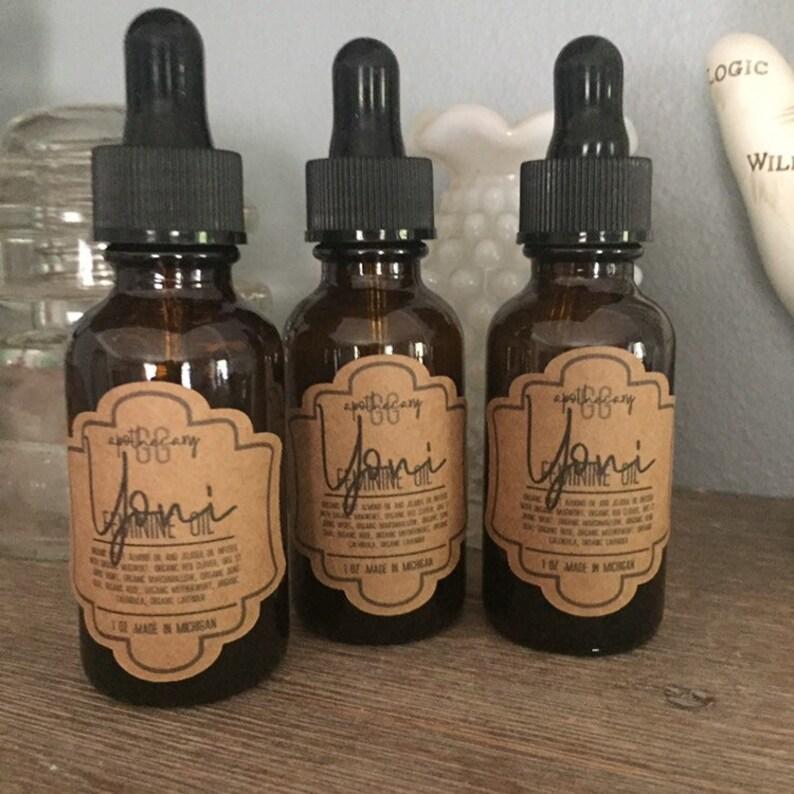 YONI  OIL  herbal infused organic sweet almond and jojoba image 0