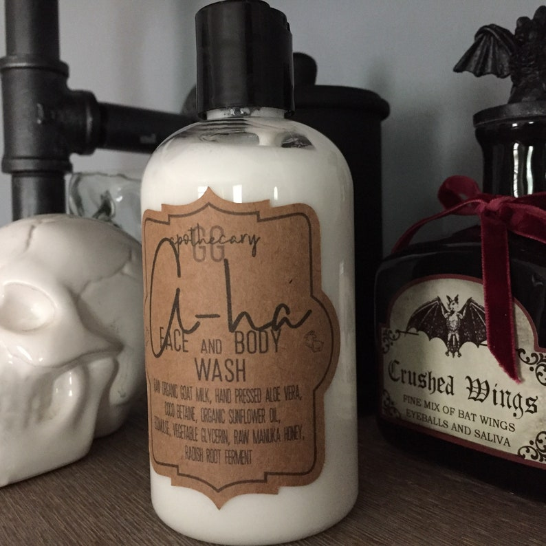 A-HA  liquid soap creamy goat milk face and body wash with image 0