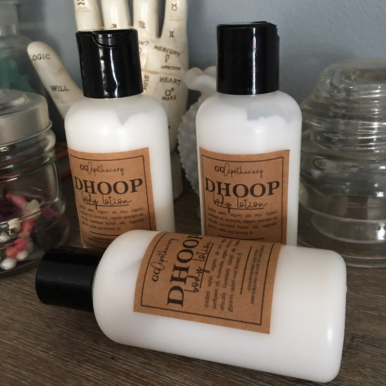 DHOOP  body lotion with sunflower silk avocado and aloe  image 0