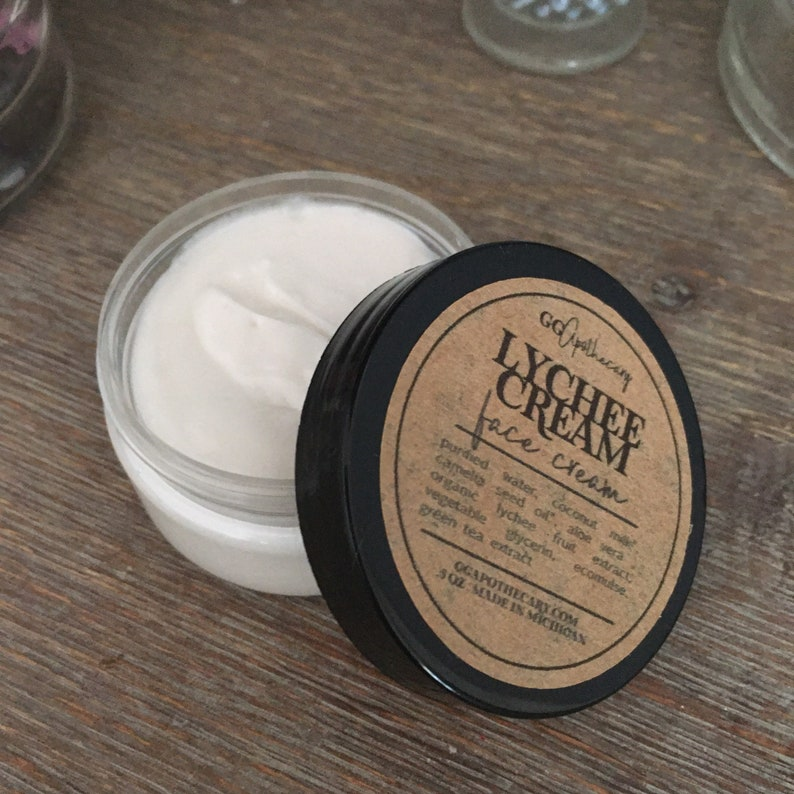 LYCHEE MILK CREAM  coconut milk face cream with lychee and image 0