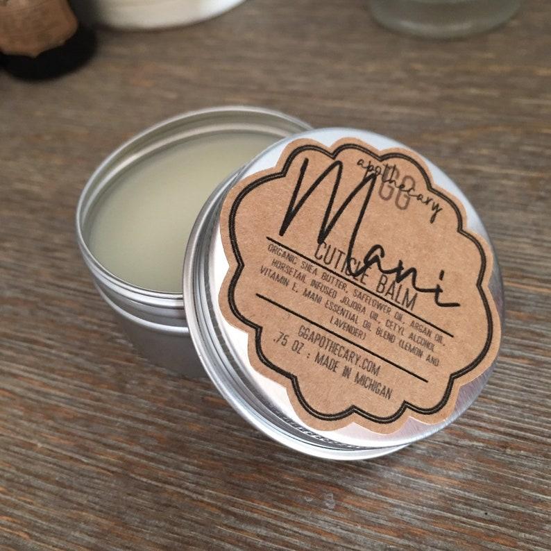 MANI CUTICLE BALM   horsetail infused jojoba shea butter image 0