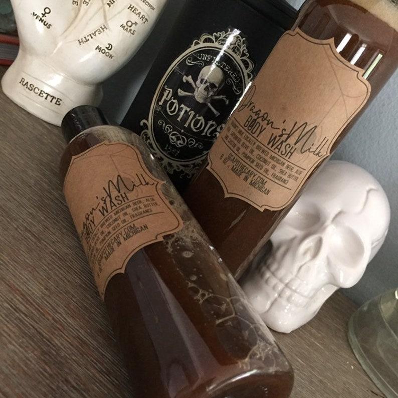 DRAGON'S MILK  liquid soap body wash made with pumpkin image 0