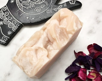 PENNY • colloidal copper and carrot cold process soap bar with shea butter and aloe and copper peptides