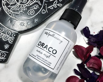 DRACO • aura spray, white sage and lavender scented body spray infused with hematite