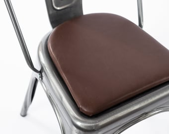 Leather Rounded Or Square Chair Or Stool Cushion For Metal Chairs And  Stools (Tolix, Tabouret, OSP, Adeco)