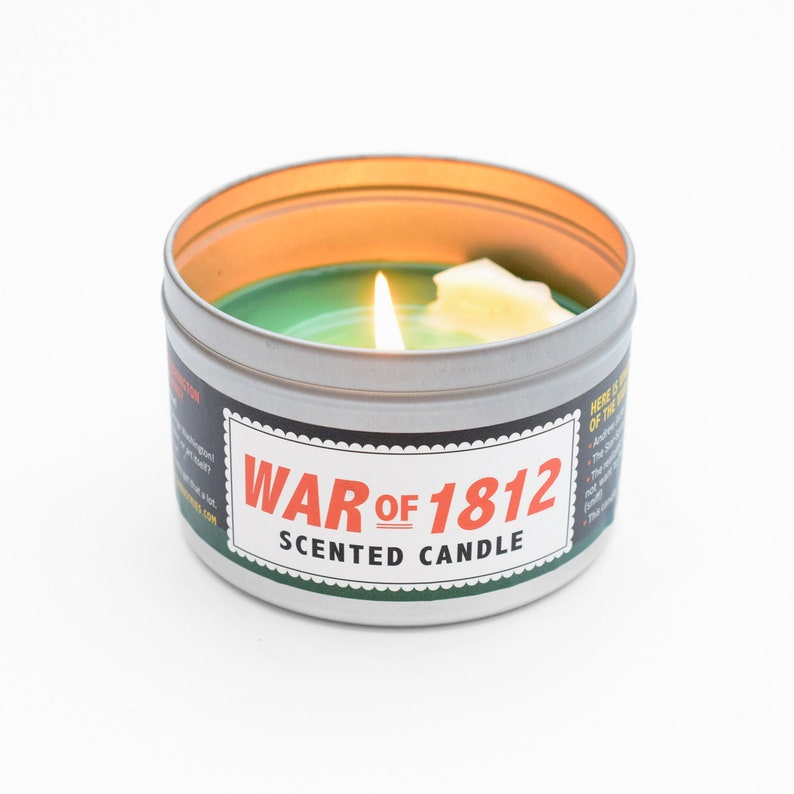 War of 1812 Scented Candle  Great gift for an AP US History image 0