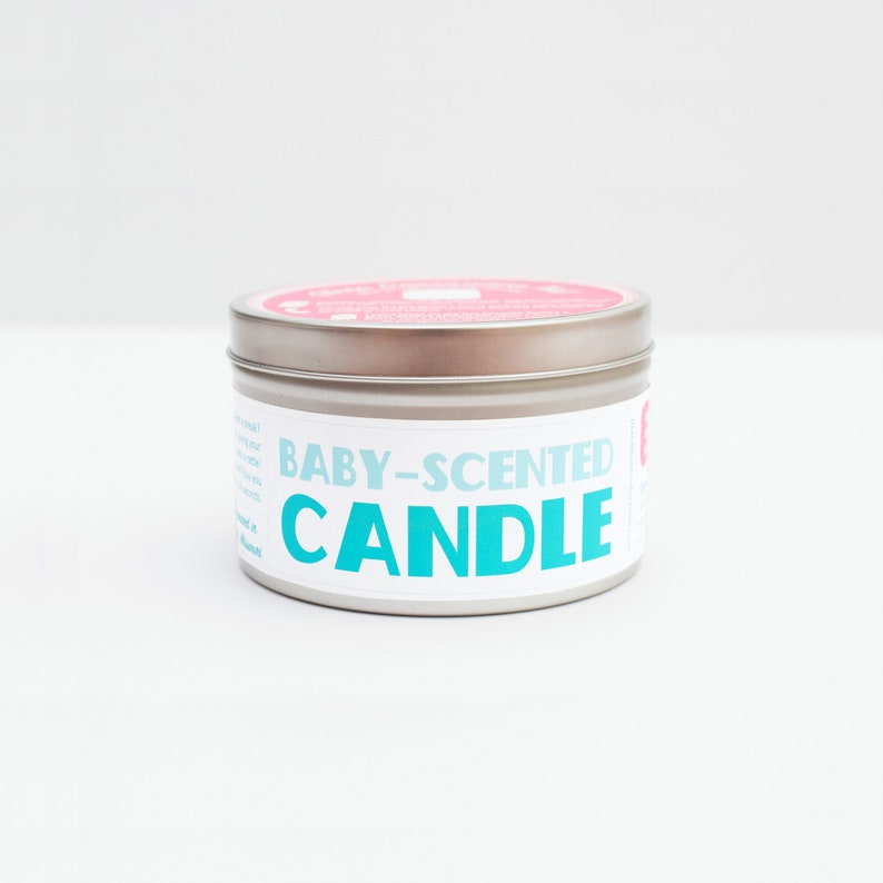 Baby Scented Candle  Funny Mom-To-Be Gift  Funny Baby Shower image 0