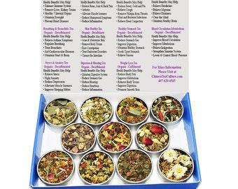 Tea Sampler - Herbal Blend - Decaffeinated - Gift Box- Loose Leaf Tea - FREE Shipping