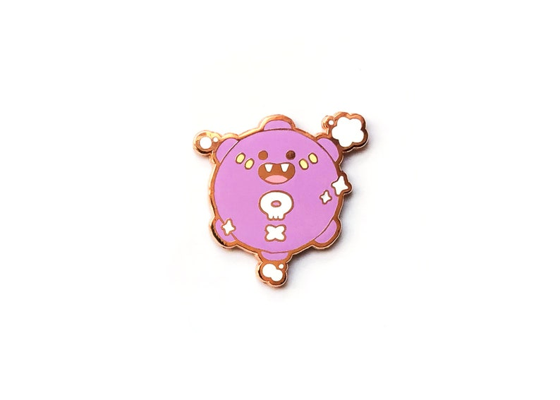23588f8241c Enamel pin Planet Young broke and fab Bunny Frog   Etsy