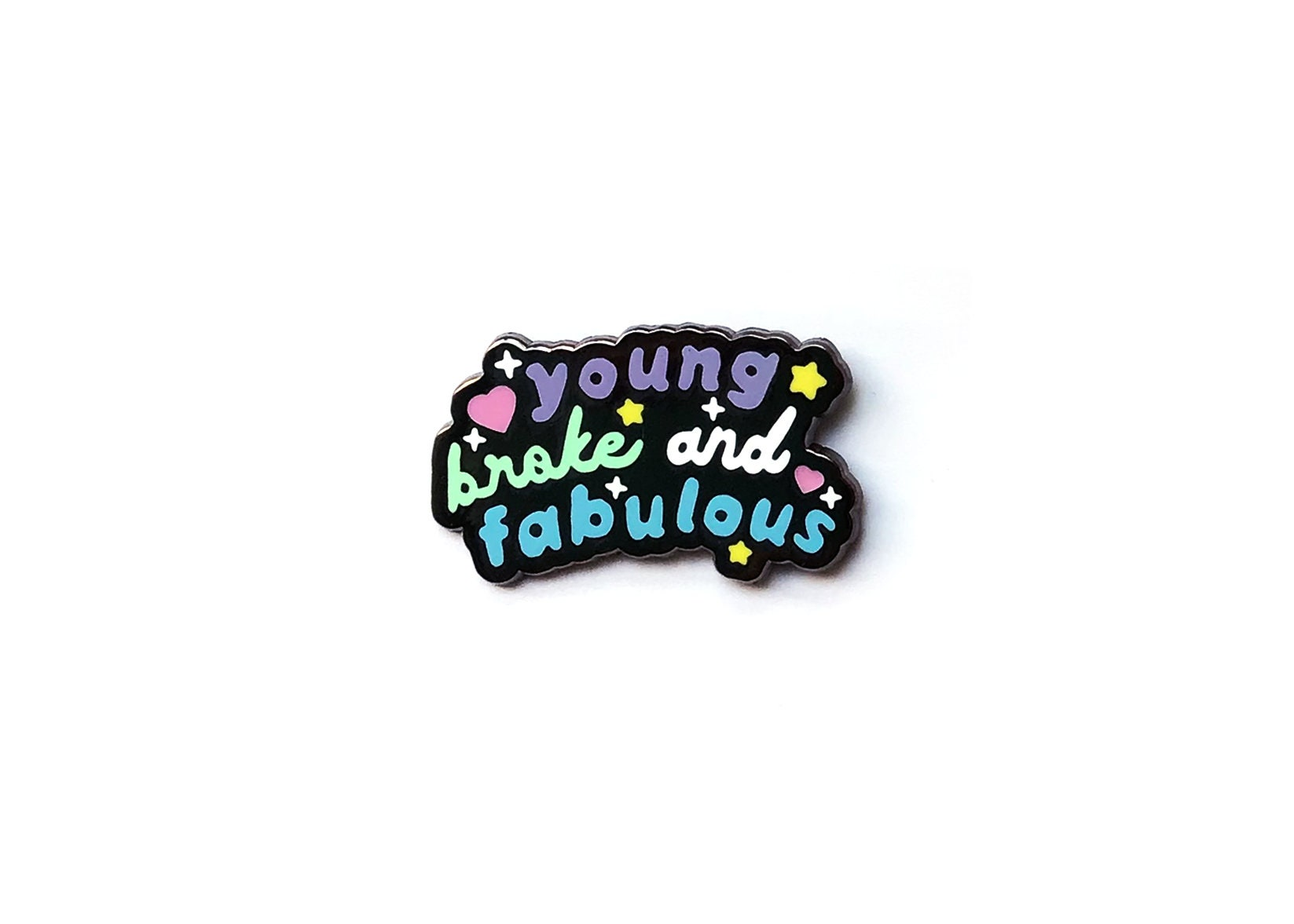 2f5d7b60d61 Enamel pin Planet young broke and fabulous Bunny Frog   Etsy