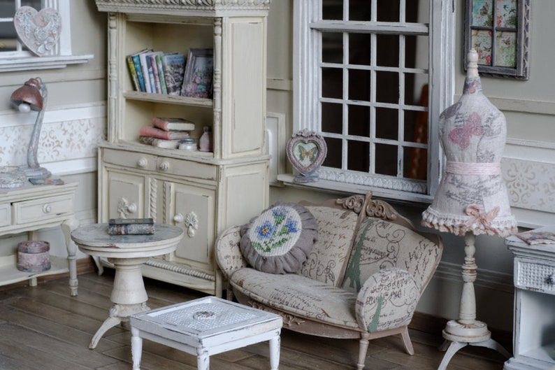 Handmade Couch Miniature 1:6 Pullip Blythe Momoko Barbie BJD Lati