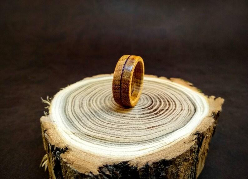 Inlayed Wood Ring Canarywood