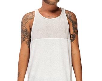 Basketball Men's Tank top, Men Tank Top, Men's white tank top, White Tank ,Minimalist clothing, Men's Fashion, Tank top for Men,