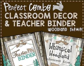 Woodland Teacher Binder & Classroom Decor