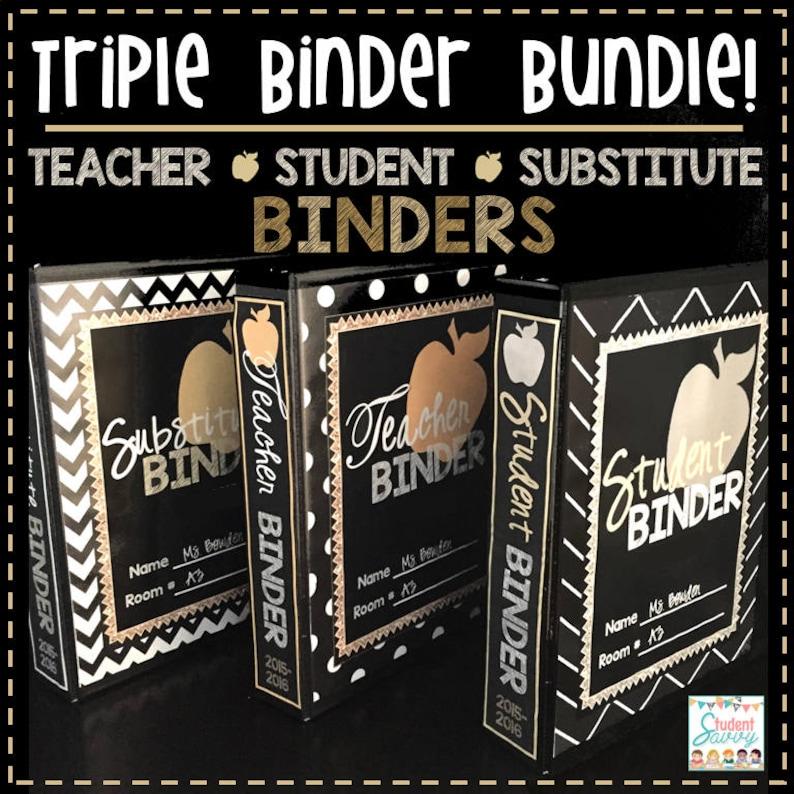 Teacher Binders 2019-2020