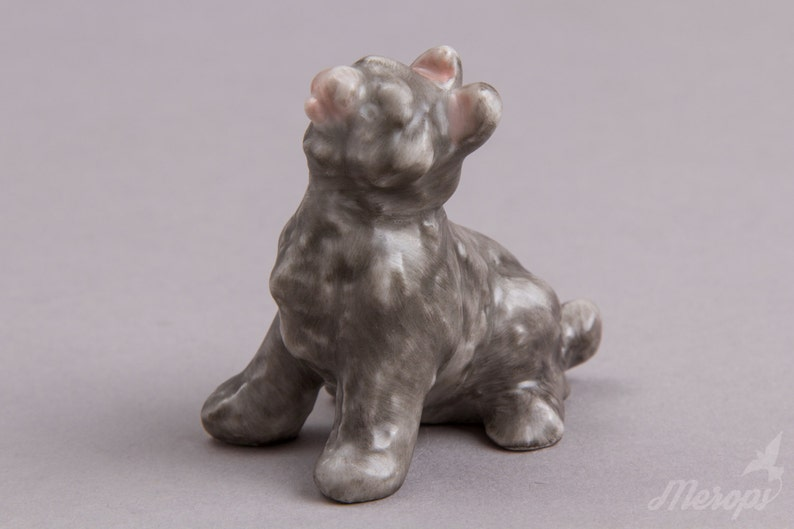 Herend Black Dog Miniature Figurine