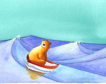 The bear starts to dream - original ILLUSTRATION