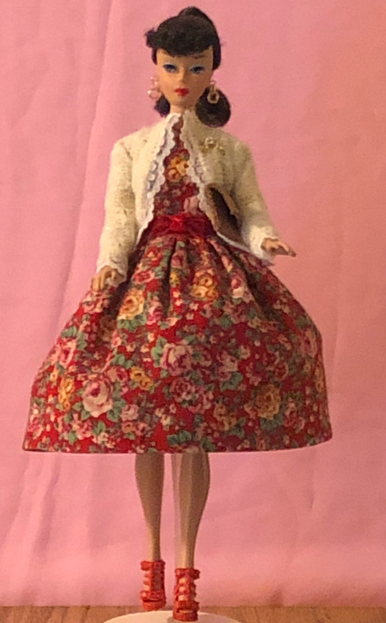 Dress Coat Outfit Fits Silkstone Vintage Repro Style Barbie Fashion Royalty FR