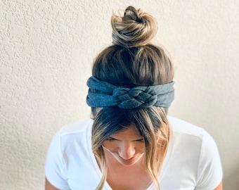 Adult Chunky Sailor Knot Headband, Adult Soft and Stretchy Turban Headband, headbands for women