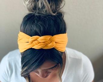 KNIT ADULT Soft Tie Headbands NEW Colors /& Prints
