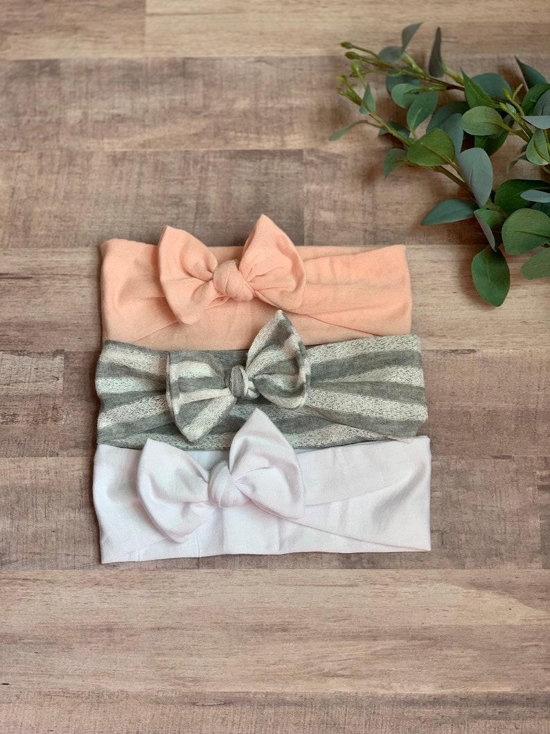 Baby Girl Headband Striped Baby Headband Newborn Girl Knot Bow Headband Baby Turban Headbands Baby Bows Newborn Headband Newborn Bows