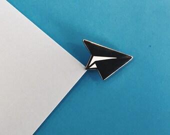 Plane Enamel Pin, Paper Plane Pin, Travel, Travel Lover, Tumblr Pin, Silver Pin, Funny pin, original pin, travel button, travel gift