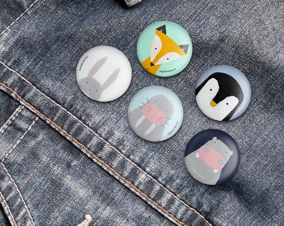 Badges, Pin Badge, Button Pin, Animal Pin, Animal Badge, Kids badge, kids pin, tumblr pins, tumblr badge, animal badge, cute pin, cute badge