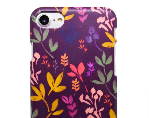Burgundy Flowers - Phone Case