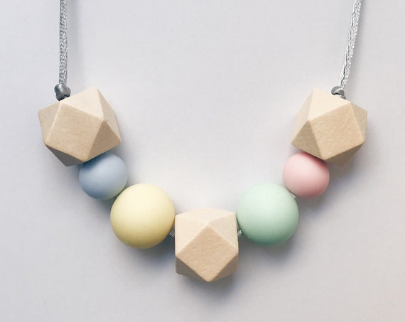 Teething Necklace - Cotton Candy