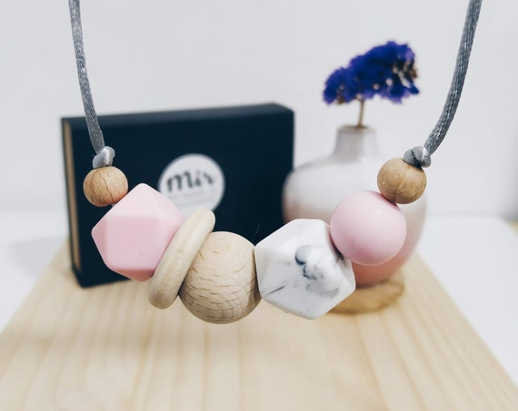 Teething Necklace - Milkyway Pink