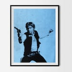 STAR WARS -Han Solo, Movie Christmas Poster, Print Art, Disney, Nursery, Home Decor, Fashion Art Hipster