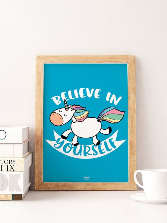 Believe in Yourself (BLUE) - Ilustración Infantil