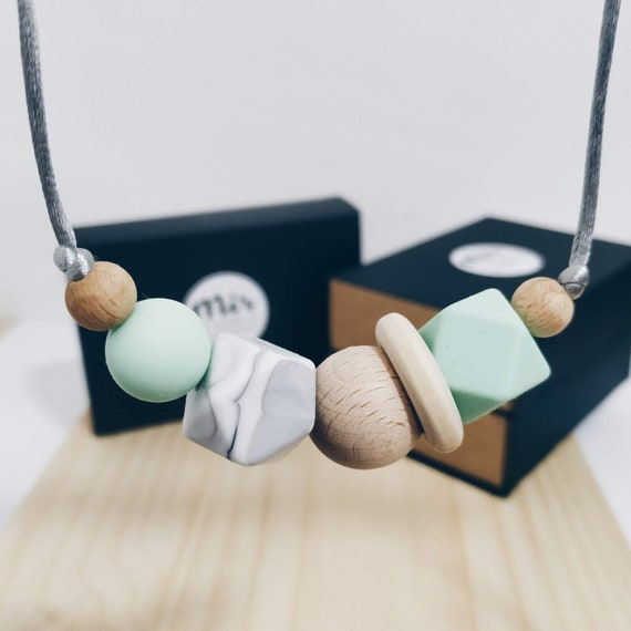 Teething Necklace - Milkyway Green