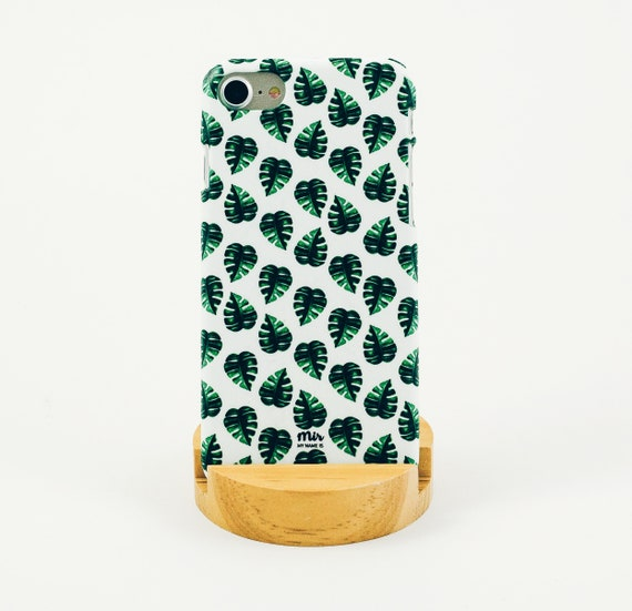 iPhone Case Illustration Monstera Pattern Plant Cacti Matte Pattern Cute Tumblr iPhone 7 iphone 6 Plus iPhone 5S 5C Samsung Galaxy Huawei