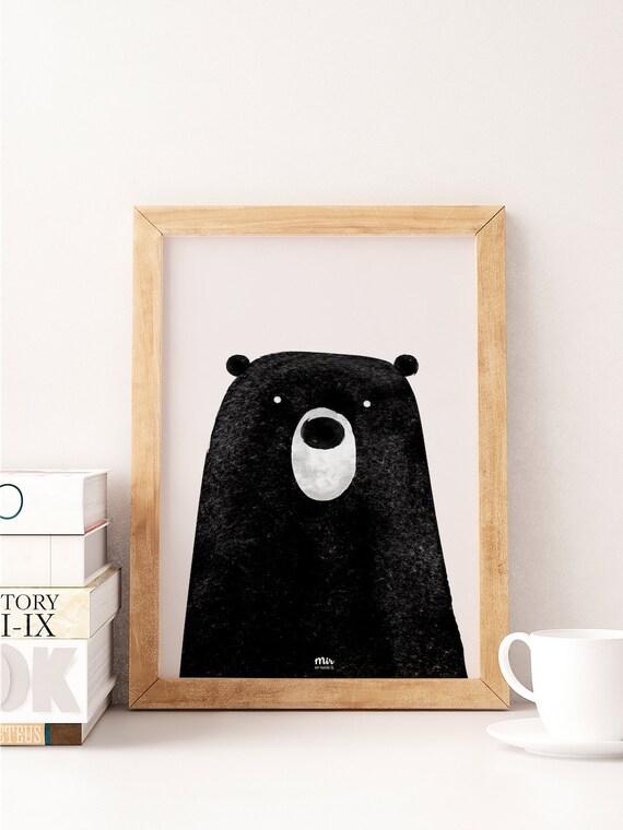 Cute Bear - Ilustración Infantil