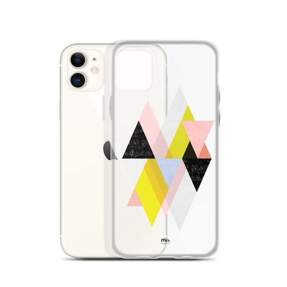 Funda iPhone Transparente - Geometric Love