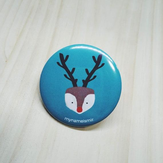 Reindeer - Magnet bottle opener for the fridge / Mirror / Badge