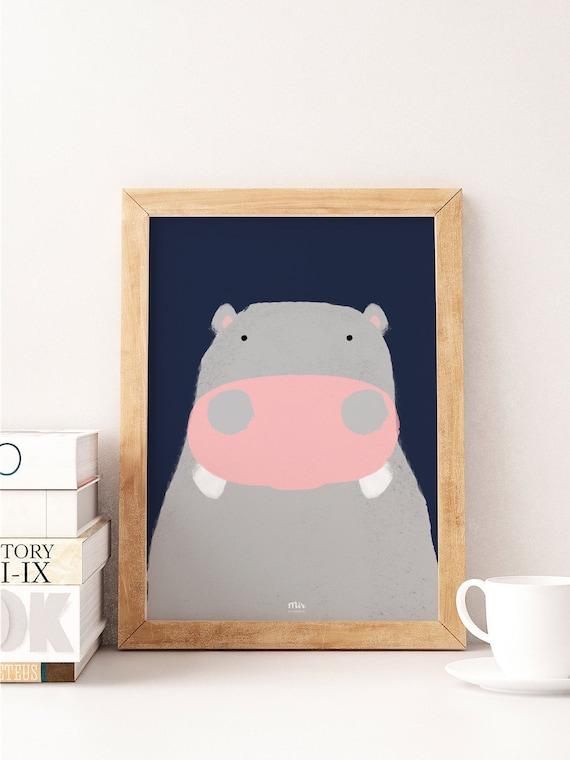 Happy Hippo - Ilustración Infantil