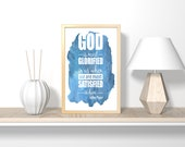 God is most glorified  Christian bible verse digital download, nursery wall art, printable art, printable wall art, bible verse wall art,